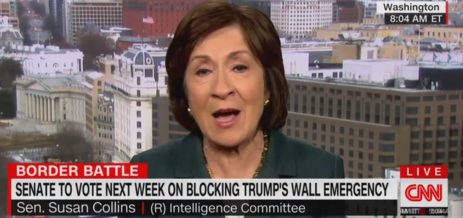 Susan Collins: I Don't Want To Make Congress Meaningless By Supporting Trump's National Emergency