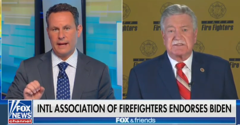 Watch: Fox News' Gotcha Question To Firefighters' Union Leader Flops
