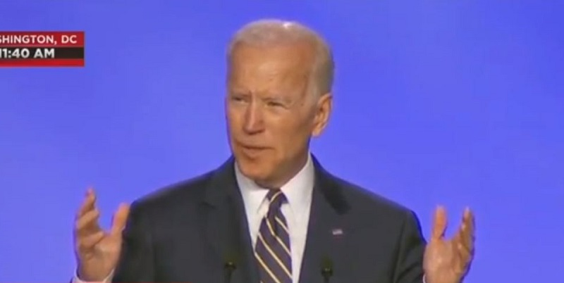 Biden Jokes About Hugging Someone in First Speech Since Allegations Emerged