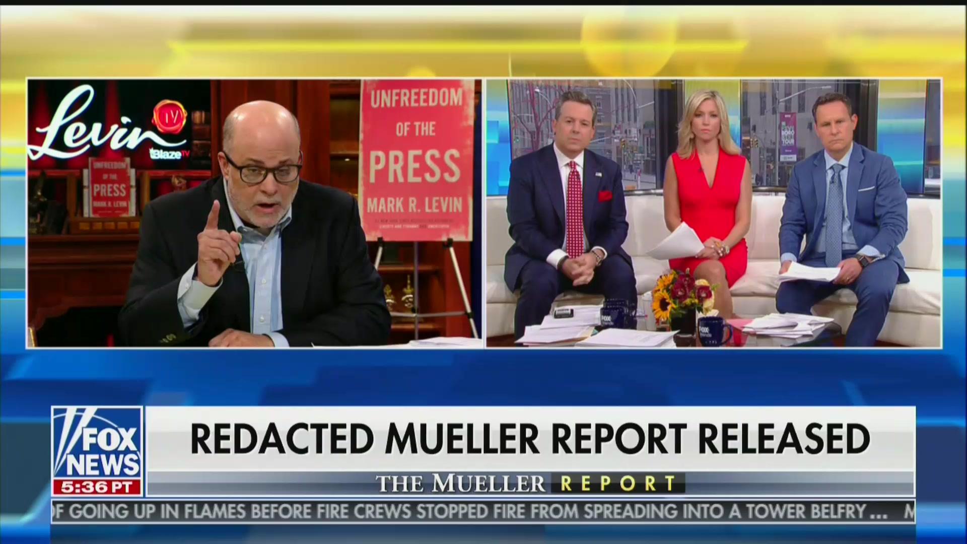 Mark Levin Flies Into Spittle-Flecked Rage Over Mueller Report, Leaves Fox Host Shellshocked