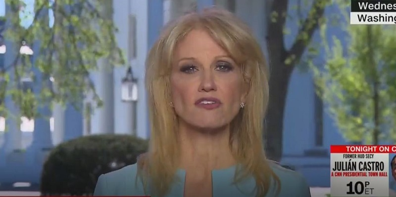 Kellyanne Conway Lies About GDP Growth, Gets Corrected on CNN by Fellow White House Aide