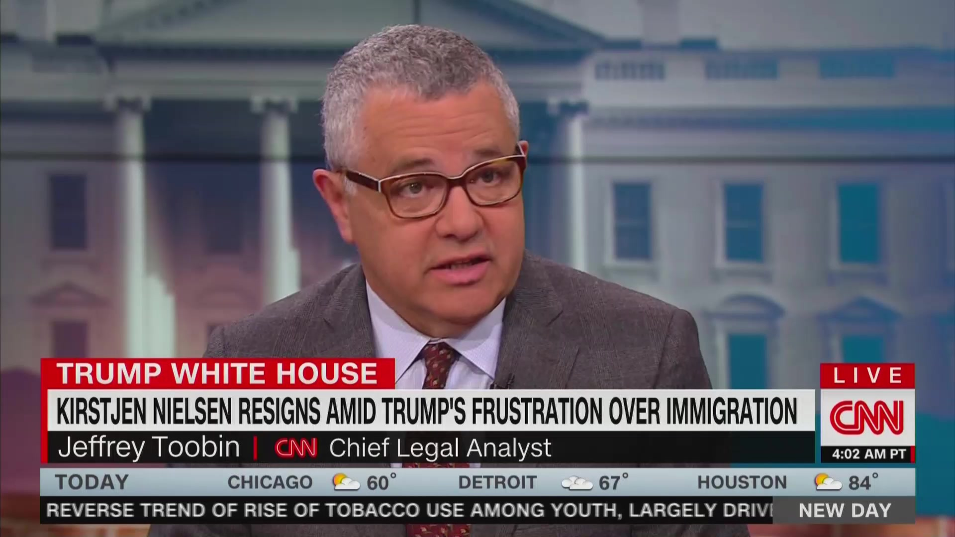 CNN's Jeffrey Toobin: Kirstjen Nielsen Will Be Remembered as the 'Woman Who Put Children in Cages'