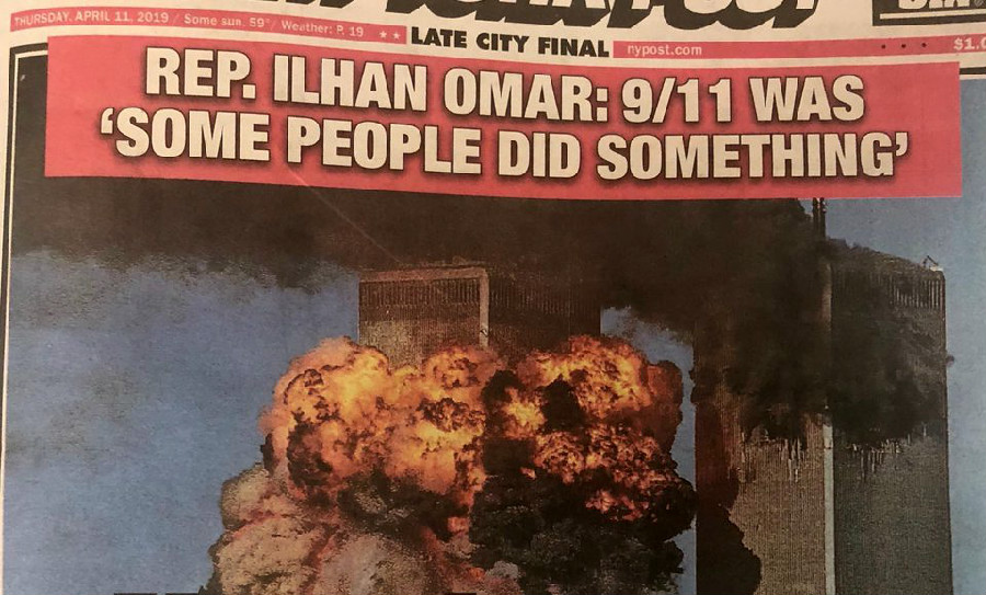 New York Post Slammed For Ripping Ilhan Omar With 9/11 Cover Photo: 'You Are Pure Trash'
