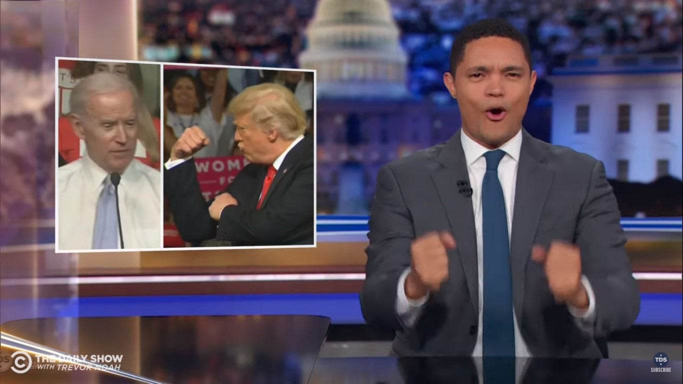 Trevor Noah Wants to See Biden Win Dem Nomination So We Can See 'Old Man Fights'