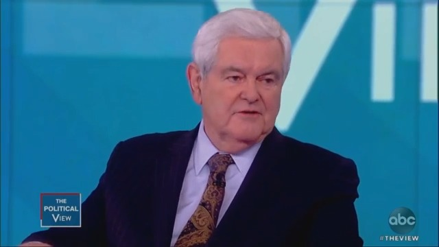 Newt Gingrich Clashes With 'The View' Over Trump's 'Very Fine People' Charlottesville Remarks