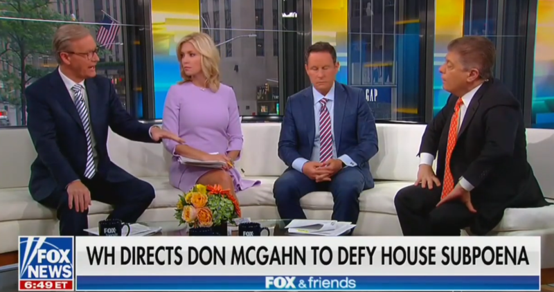 Fox Hosts Joke That Congress Will Question An Empty Chair, Box Of Chicken If McGahn Defies Subpoena