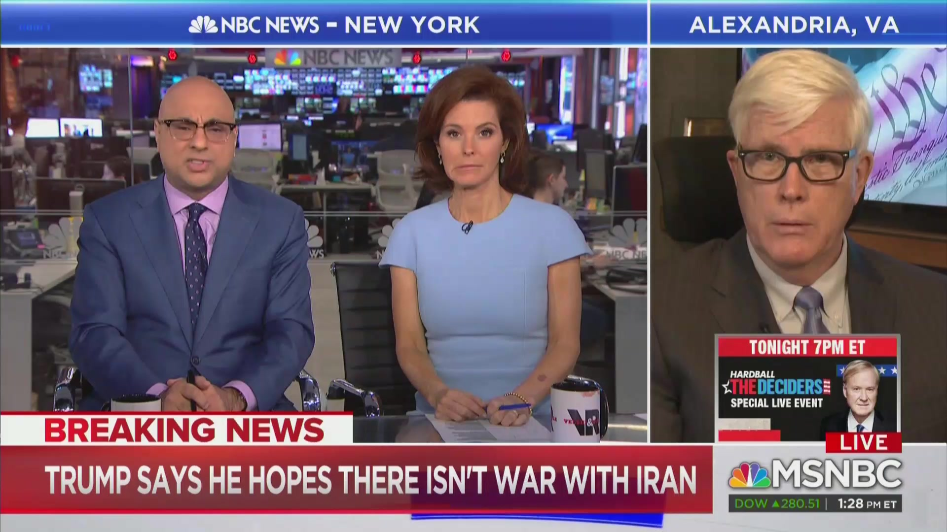 MSNBC's Ali Velshi Blows Up at Hugh Hewitt Over Iran: 'Just Stop for Heaven's Sake!'