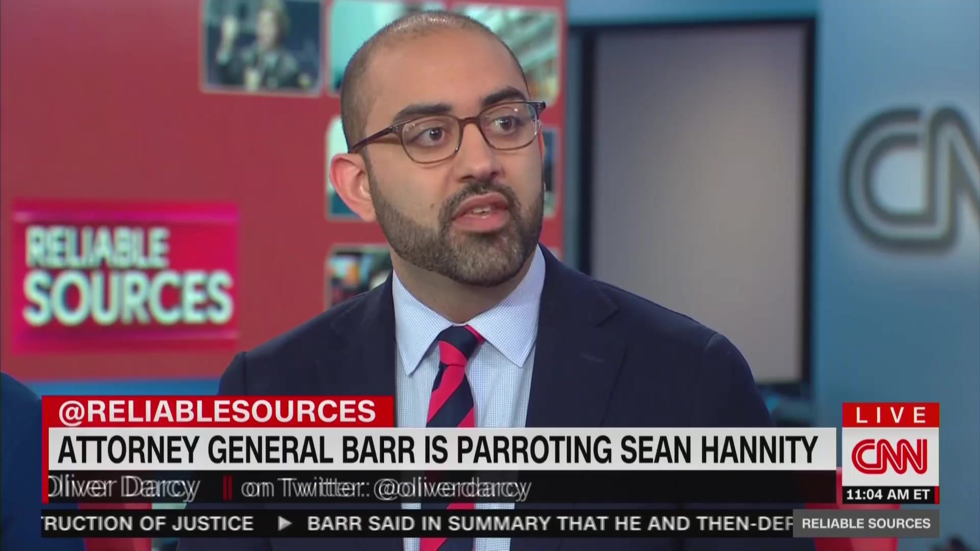 CNN's Oliver Darcy: Bill Barr Could Be 'One of the Opinion Talking Heads on Fox News'