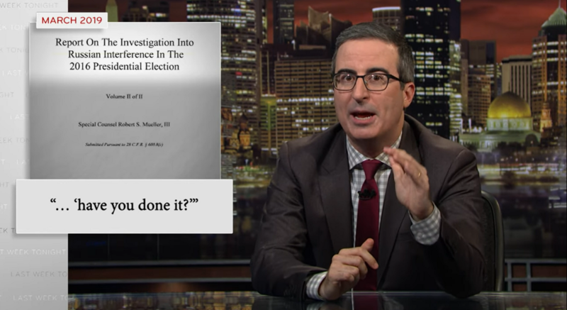 Watch: John Oliver Explains Why Trump Should Be Impeached