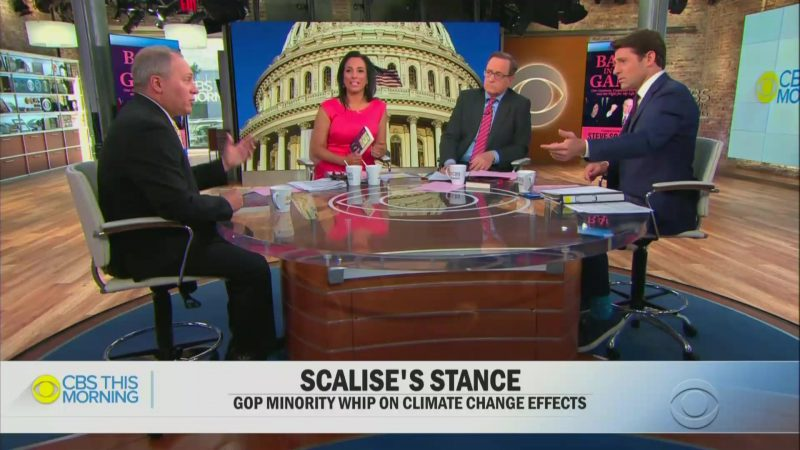 CBS Host to Steve Scalise: Your Solution to Climate Change Is to Drill for More Oil?