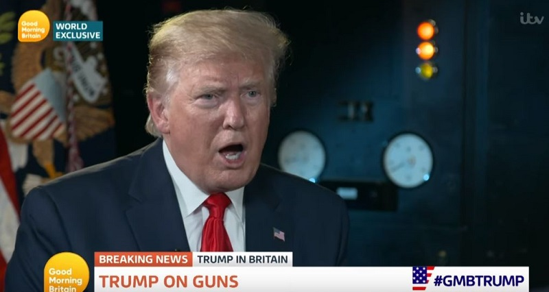 """Trump Downplays American Gun Violence: British Hospitals Are """"a Sea of Blood"""" Because of Stabbings"""