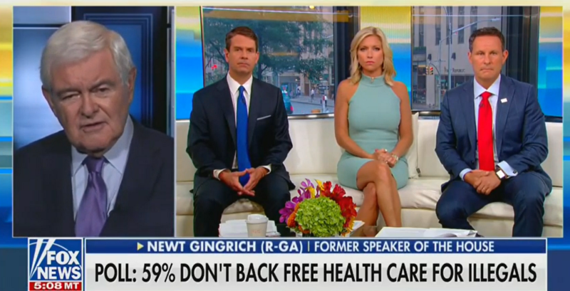 Newt Gingrich: Sick People From The Entire Planet Will Sneak Into The US For Free Healthcare