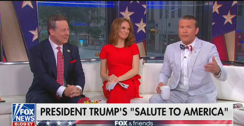 Fox's Pete Hegseth Is Wearing A Flag Bow Tie. That's Technically Illegal