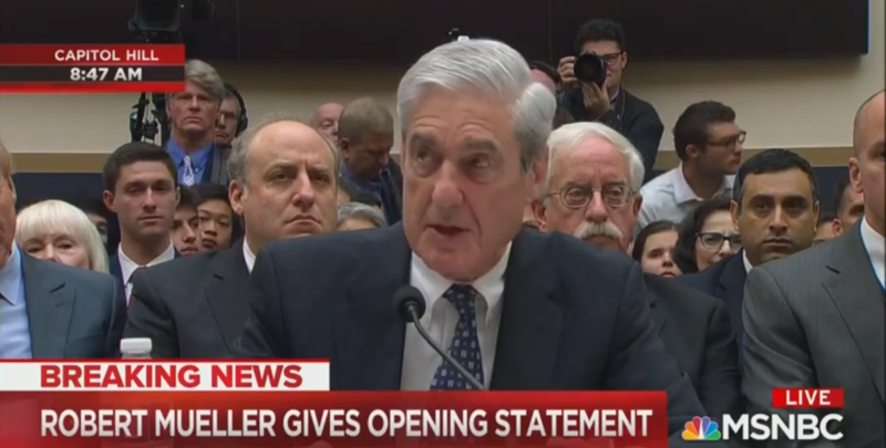 Robert Mueller Says He's 'Unable To Address' Matters Related To Steele Dossier At Hearing