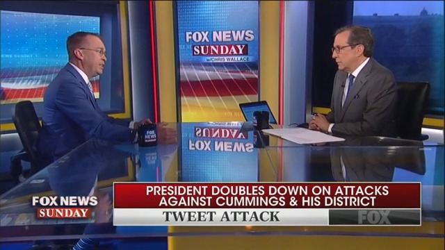 Chris Wallace Grills Mick Mulvaney on Trump's Racist Baltimore Attacks: There's a 'Clear Pattern Here'