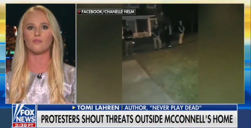 Kentucky Police Say A Protest At Mitch McConnell's Home Was Peaceful. Tomi Lahren Disagrees