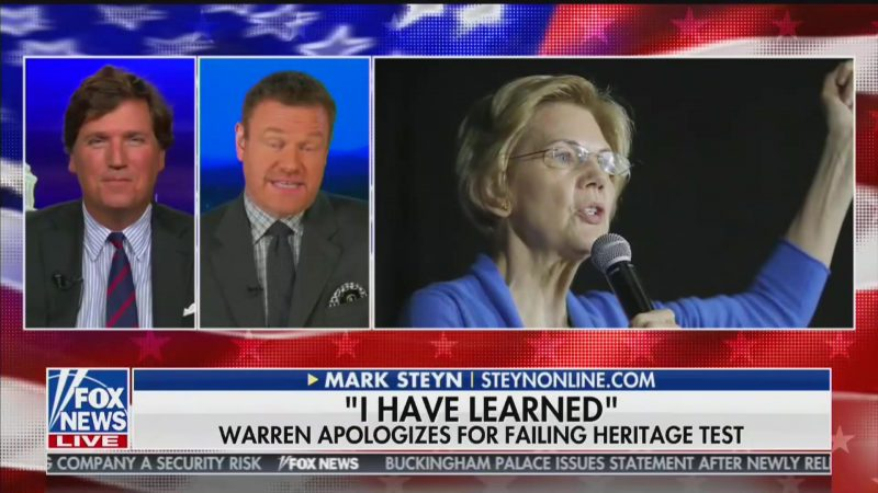 Fox News' Tucker Carlson: Elizabeth Warren Is 'Cory Booker-Level' White