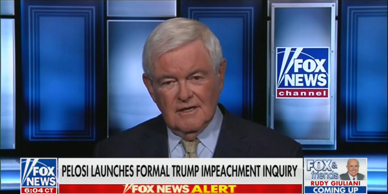 Newt Gingrich: Joe Biden Is 'Gonna Get Clobbered' by Pelosi's Ukraine Inquiry