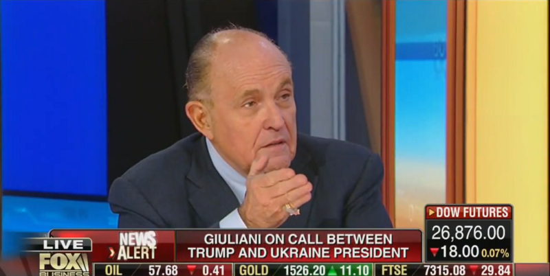 Rudy Giuliani Links George Soros to His Biden/Ukraine Conspiracy Theory