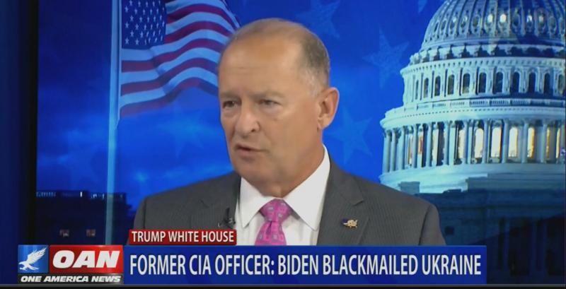 Former CIA Officer Tells OANN: Biden Admitted He Was 'Essentially' Blackmailing Ukraine