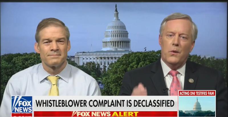 GOP Rep. Jim Jordan: Intel Community Is 'Getting Back' at Trump with Whistleblower Complaint