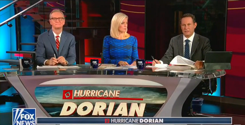 Fox & Friends Downplay Hurricane Dorian To Deny Climate Change: 'Keep This In Perspective'
