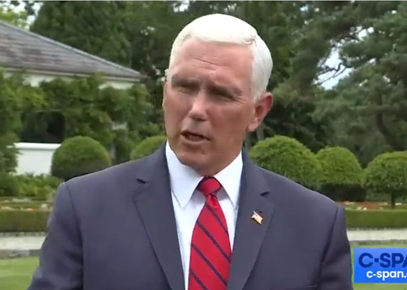 Mike Pence Says Criticism of His Stay at Trump Golf Club While on State Visit Is Just 'Political Attacks by Democrats'
