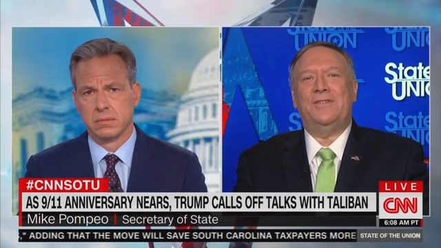 CNN's Jake Tapper Challenges Mike Pompeo: 'Why Invite the Taliban to Camp David?'