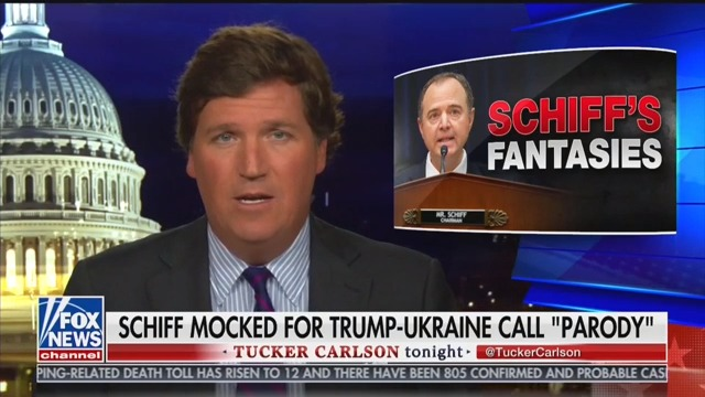 Tucker Carlson Says House Intel Chair Adam Schiff Is 'Clearly, Demonstrably Mentally Ill'