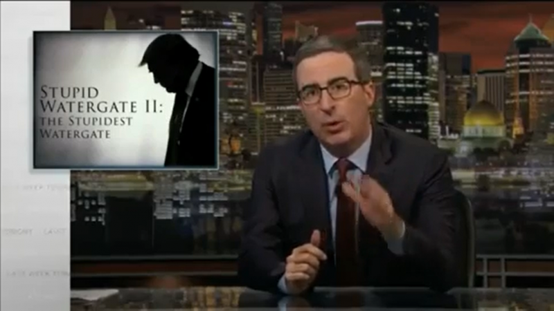 John Oliver On Trump: 'When the President Does It, It Has to Be Illegal'