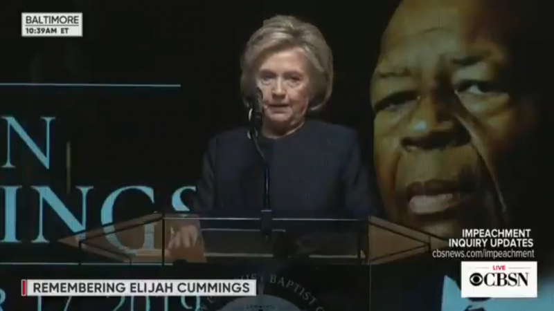 Clinton Praises Elijah Cummings in Veiled Swipe at Trump: 'He Stood against Corrupt Leadership of King Ahab and Queen Jezebel'