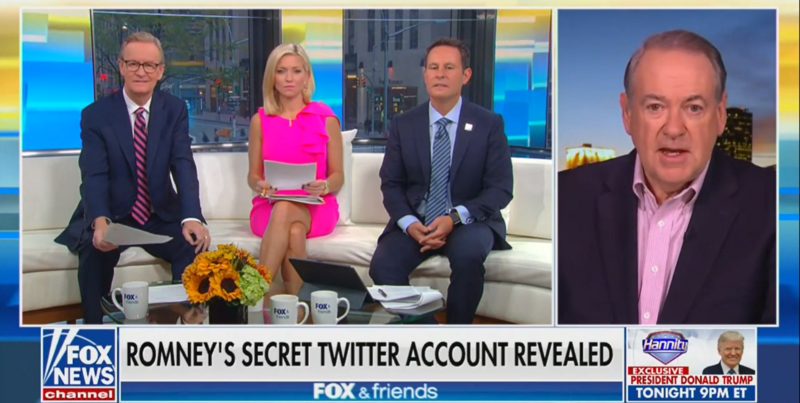 Mike Huckabee on Romney's Secret Twitter Account: 'The Work of Kids, Cowards, Couch Potatoes and Perverts'