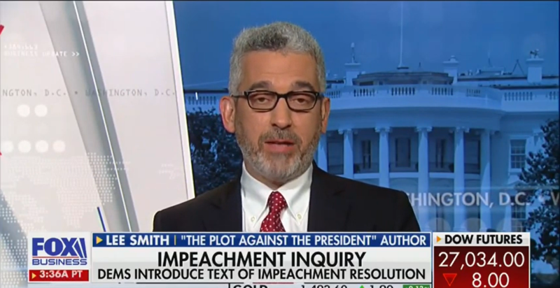 Fox Business Guest: Impeachment Is 'A Secret Ritual Conducted By a Cult'