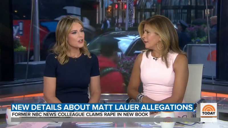 Today Show Hosts Respond to 'Appallingly Horrific' Matt Lauer Rape Allegations