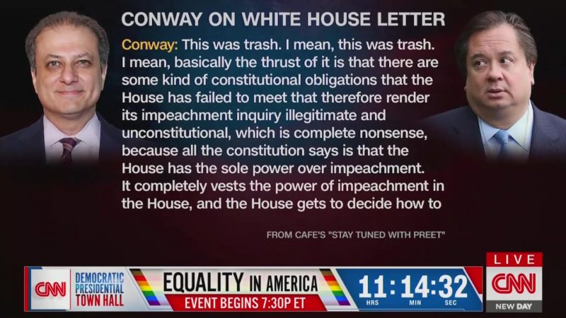 George Conway: White House Impeachment Letter Is 'Trash' Attempt to Hide 'Damning Evidence'