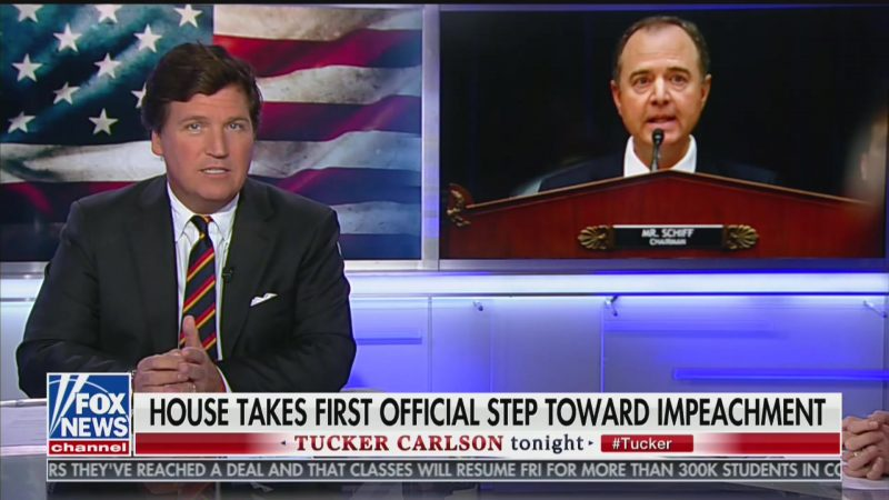 Tucker Gets Real Strange on Schiff: He Wrote 'Steamy' Impeachment Letters With His 'Body Fluids'