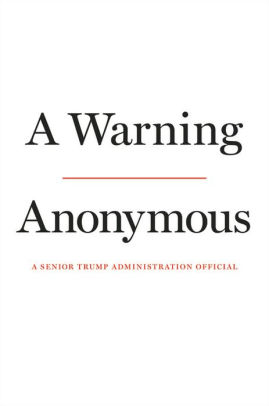 Anonymous' New Book – A Warning – Reveals Nothing More than His or Her Own Mercenary Cynicism