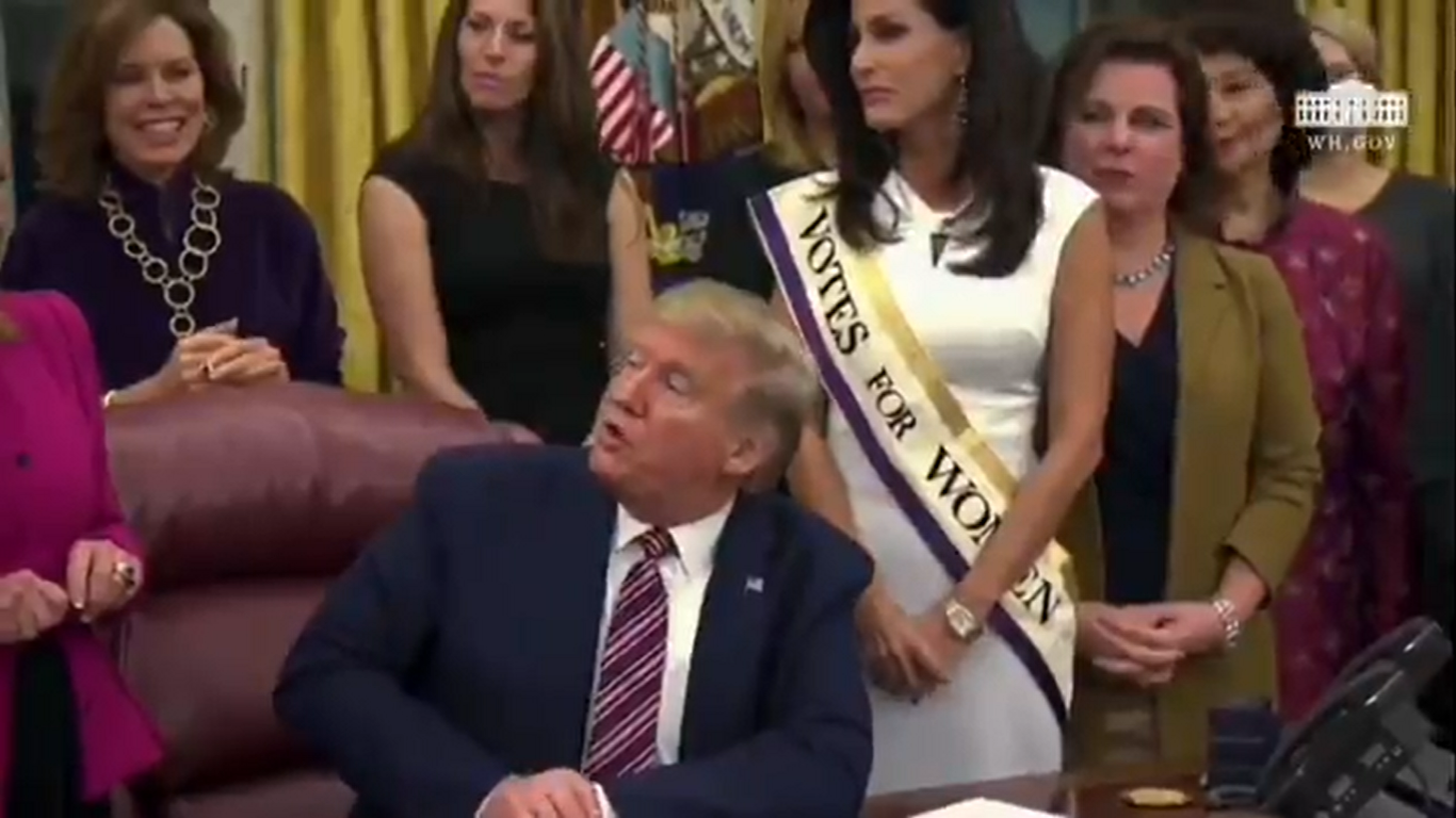 Trump Wonders Why Women's Suffrage Centennial Coin Wasn't 'Done A Long Time Ago'