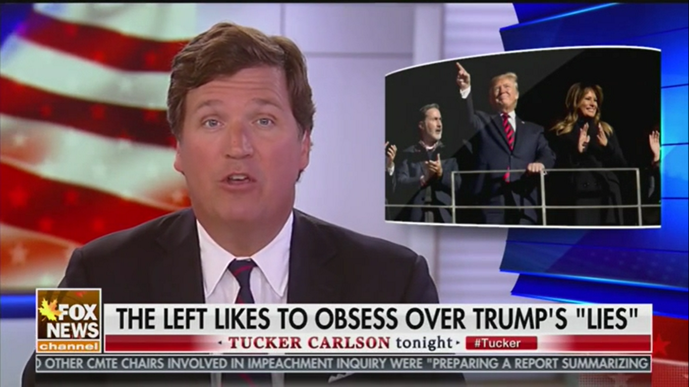 Tucker Carlson Calls Trump a 'Full-Blown BS Artist' as He Defends the President's Lies
