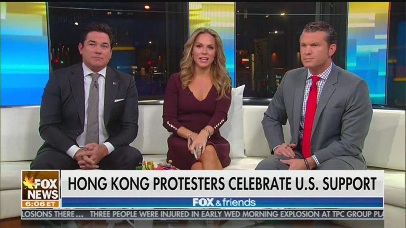 Fox's Pete Hegseth: Hong Kong Protesters Look at Trump and 'They See Rocky Balboa'