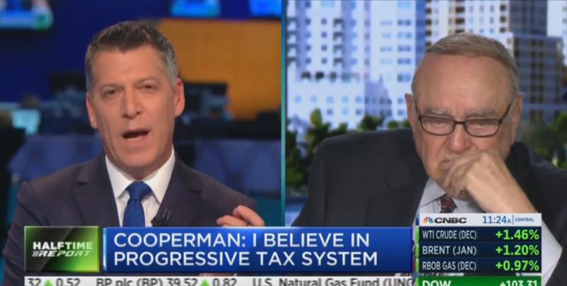 Wall Street Billionaire Leon Cooperman Cries On Air About Elizabeth Warren and Donald Trump