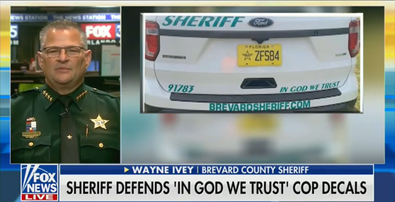 Sheriff Defends Putting 'In God We Trust' on Police Cars: 'We're Gonna Lose This Great Country'