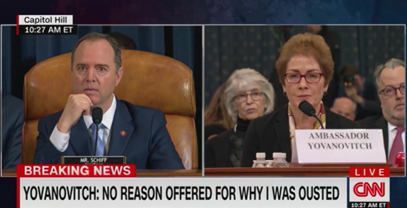 Adam Schiff: Trump Attacking Yovanovitch During Hearing is 'Witness Intimidation'