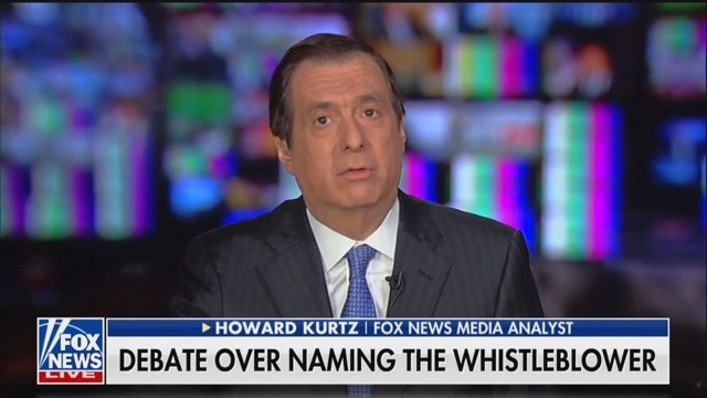 Fox's Howard Kurtz: 'I Don't Think ' Mollie Hemingway Should Have Named Whistleblower