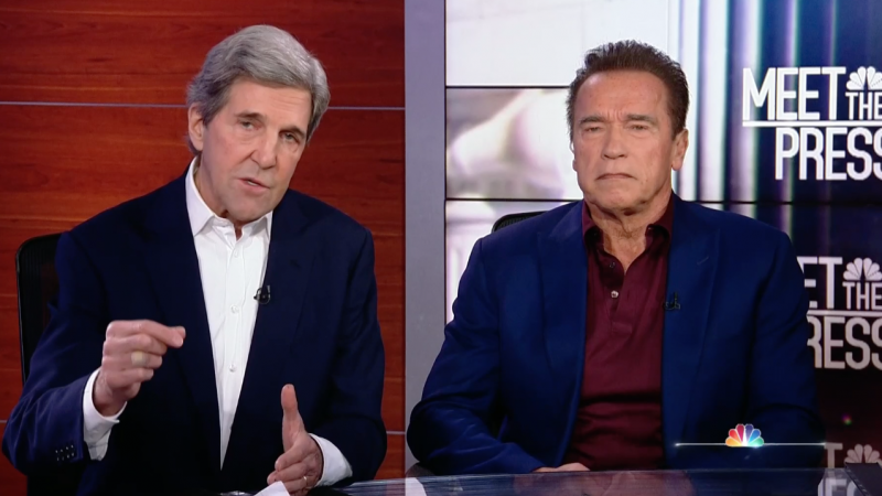 Schwarzenegger, Kerry Outline Climate Change Initiative 'World War Zero'
