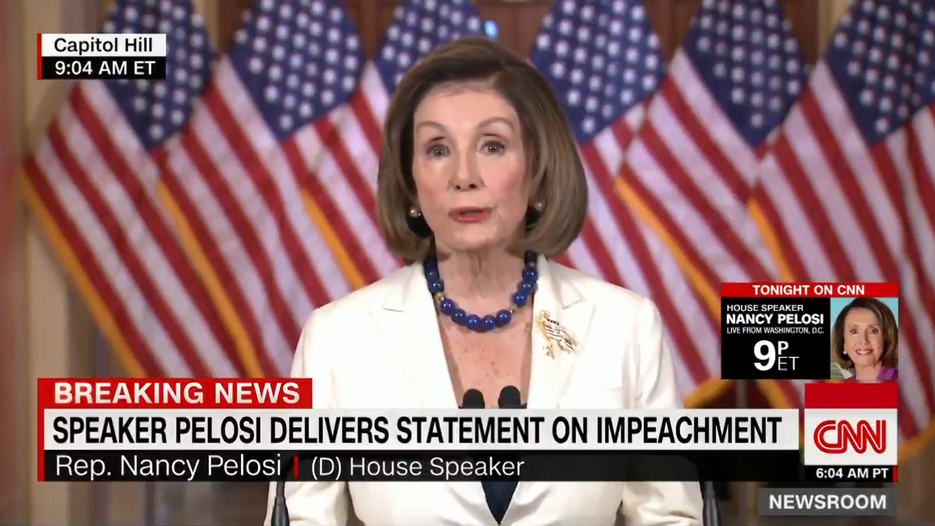 Nancy Pelosi Asks Congress to Proceed with Articles of Impeachment Against Trump
