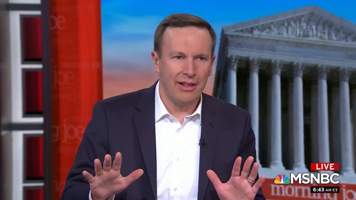 Democratic Senator Chris Murphy Says He's Spoken to Republicans Considering Voting for Impeachment