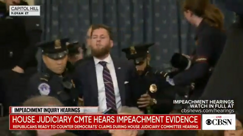 Infowars Host Interrupts Impeachment Hearing, Accuses Democrats of 'Treason'