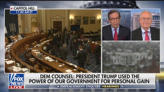 Chris Wallace Pushes Back on Ken Starr: Trump Impeachment 'Much Bigger' Than Clinton Lying About Sex