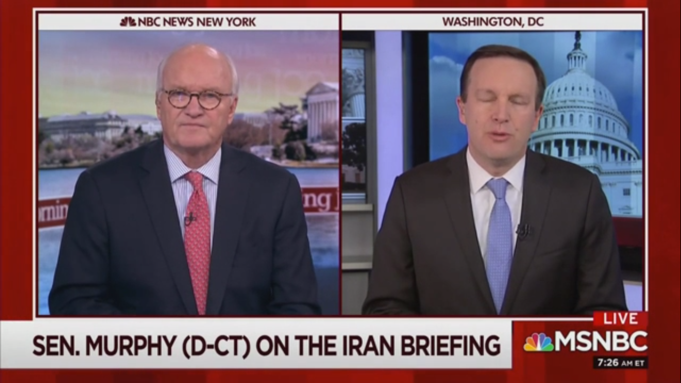 Sen. Chris Murphy on White House Iran Briefing: 'When the Questions Started to Get Tough, They Left'